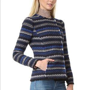 Rebecca Taylor Sz6 Tweed Variegated Stripe Blazer